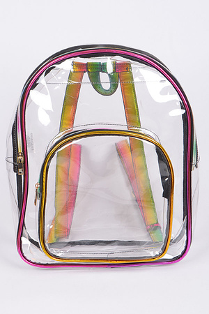 Clear Backpack With Zipper