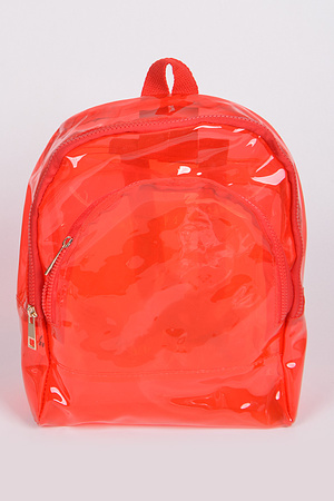 Clear Double Zipper Backpack