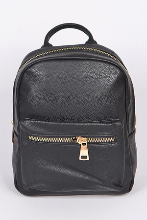 Plain Backpack With Zipper
