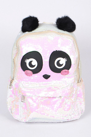 Cute Panda Backpack With Sequins