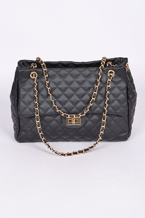 Quilted Chain Handbag