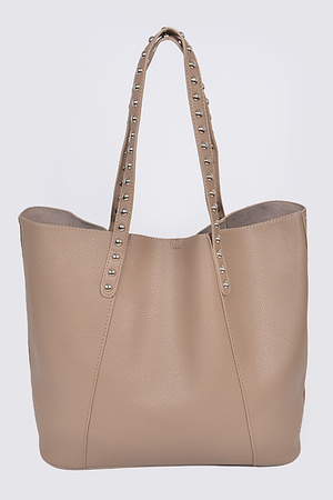 Studded Strap Tote Bag