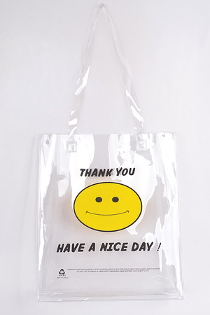 Smile Clear PVC Tote Bag