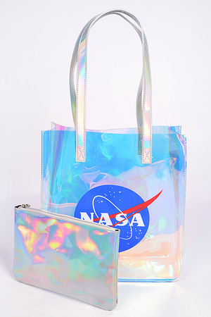NASA PVC Shoulder Bag