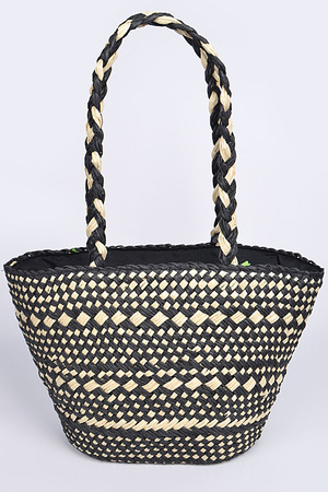 Straw Fashion Tote Bag