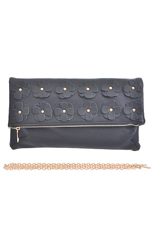 Flower Attached Folded Clutch