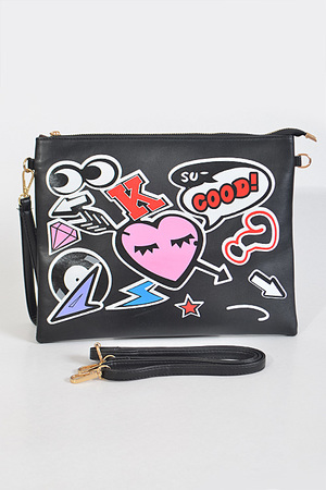 Cute Punk Inspired Hand Clutch