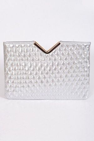 "Fashionable Clutch with ""V"" Detail"