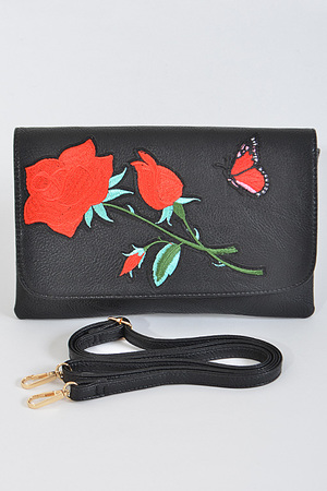 Enchanted Red Roses Clutch