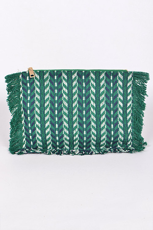 Fringed Aztec Inspired Clutch