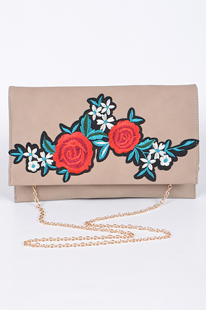 Red Roses Envelope Clutch