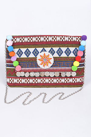Aztec Colorful Trendy Clutch
