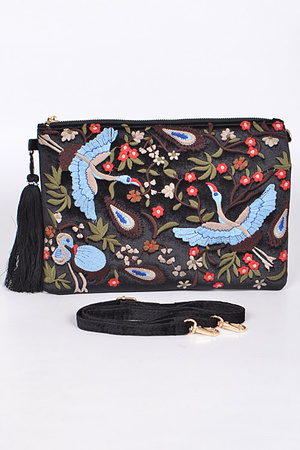 Loving Nature Clutch With Tassel Detail