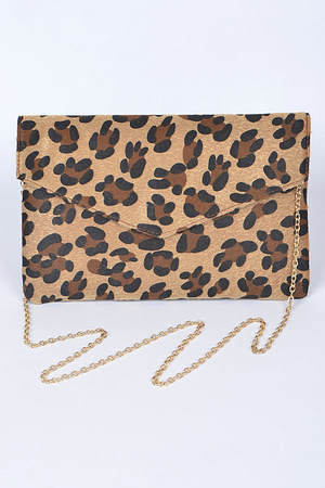 Faux Animal Print Fashionable Clutch.