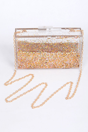 Sparkle & Glitter Clear Clutch