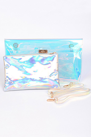 Clear and Shiny Diva Clutch.
