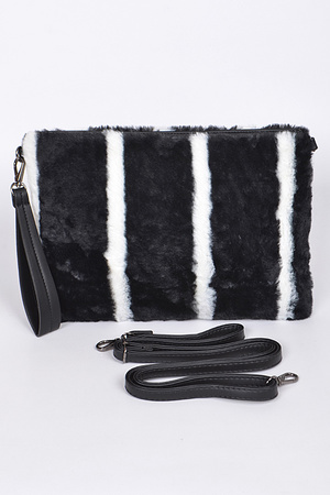 Very Chic Faux Fur Clutch