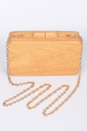 Faux Wood Inspired Clutch