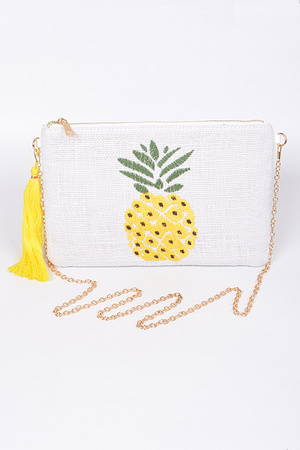 Pineapple & Tassel Clutch.