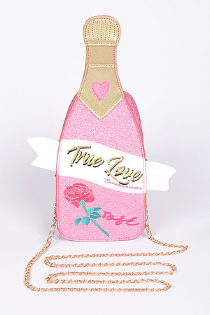 True Love Champagne Sparkling Clutch