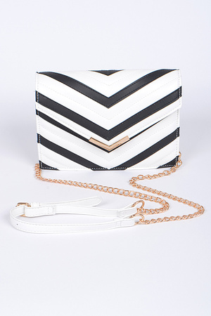 Zebra Inspired Envelope Clutch