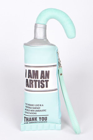 I'm an artist Toothpaste Inspired Clutch