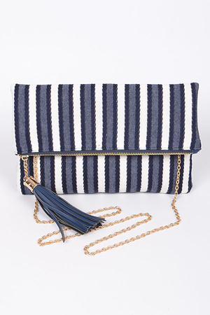 Tassel & Zipper Clutch