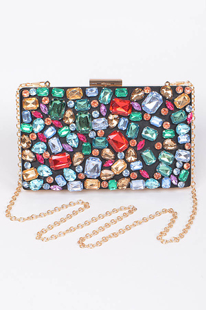 Embroidered Elegant Clutch