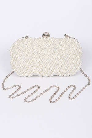 Delicate Pearl Bead Clutch