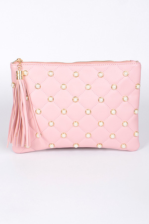 Lady Style Clutch With Pearls