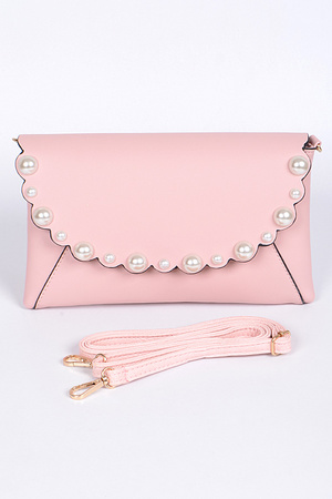 Very Lady Clutch With Pearls Details
