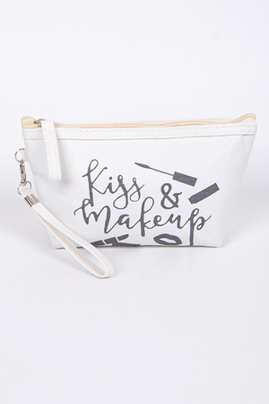 Kiss & Make Up Cosmetic Clutch