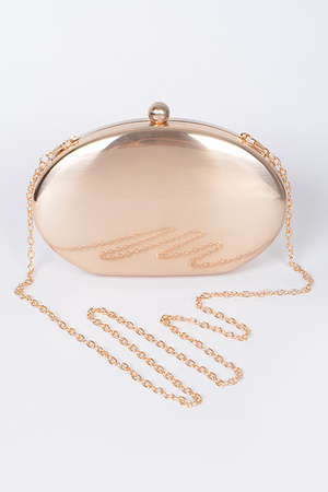 Metallic Clutch With Chain Details