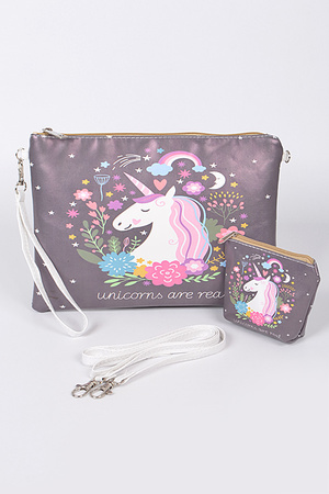 Unicorns Are Real Colorful Clutch