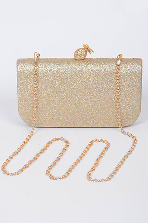 Cute Sparkling Clutch With Pineapple Detail
