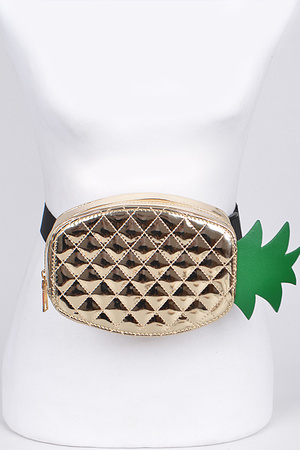 Adjustable Fashion Pineapple Fanny Pack