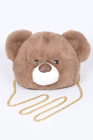 Cute Bear Face Clutch