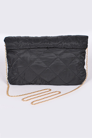 Diamond Quilted Clutch