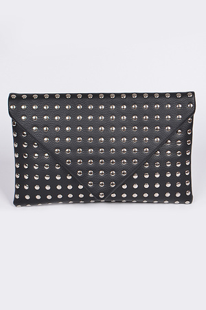 Studded Envelope Clutch.