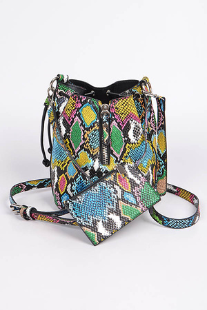 Multicolor Melt Bucket Bag
