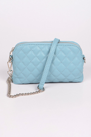 Quilted Monotone Crossbody Bag
