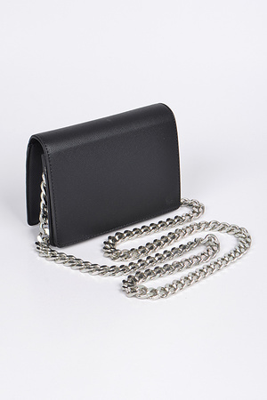 Small Box Clutch With Thick Chain Strap