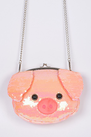 Sequin Pig Clutch