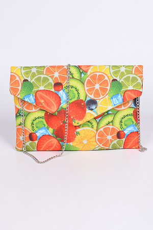 Fresh Fruit Envelope Clutch