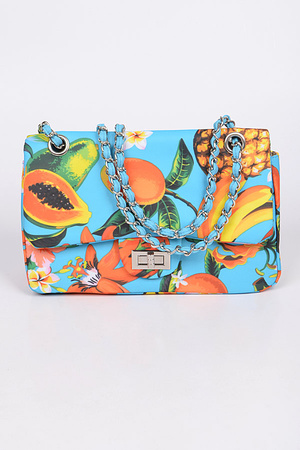 Passion fruits Print Clutch