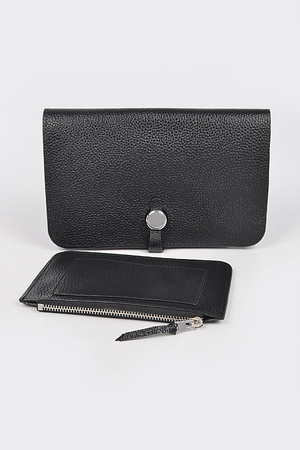 Simple and Chic Real Leather Wallet.