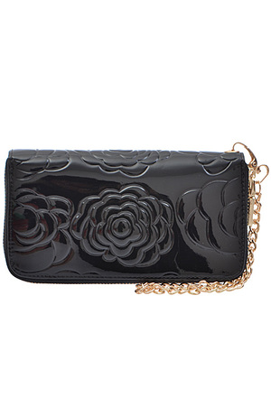 Rose Design Chain Wallet
