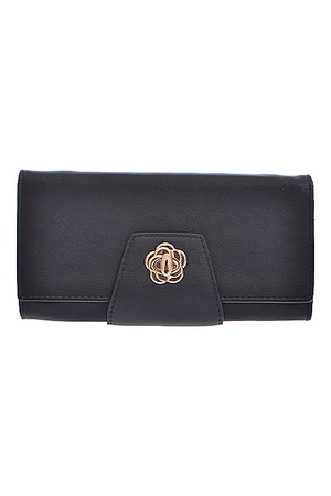 Flower Detailed Closure Wallet