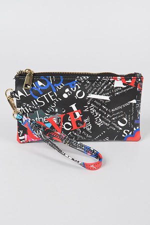 Multi Letter Mini Purse