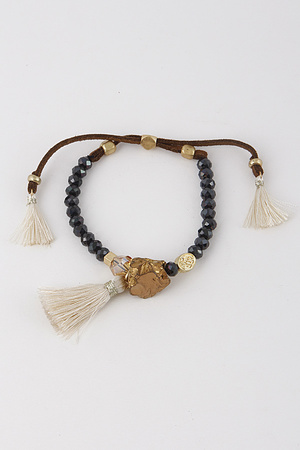 Adjustable Tassel Mixed Bracelet 8HAE6
